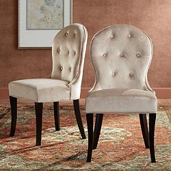 Anne Tufted Back Velvet Dining Chair Set of 2