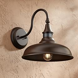 "Gough 12 1/2"" High Bronze Motion Sensor Outdoor Wall Light"
