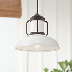 "Kichler Jenson 14"" Wide Weathered Zinc Pendant Light"