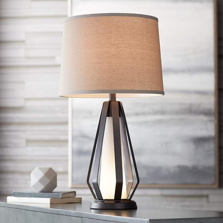 Joseph Metal Table Lamp with LED Night Light