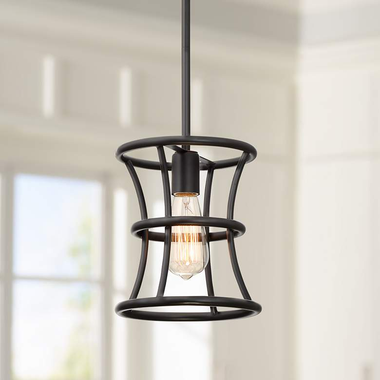 "Felix 8"" Wide Oiled-Rubbed Bronze Mini Pendant Light"