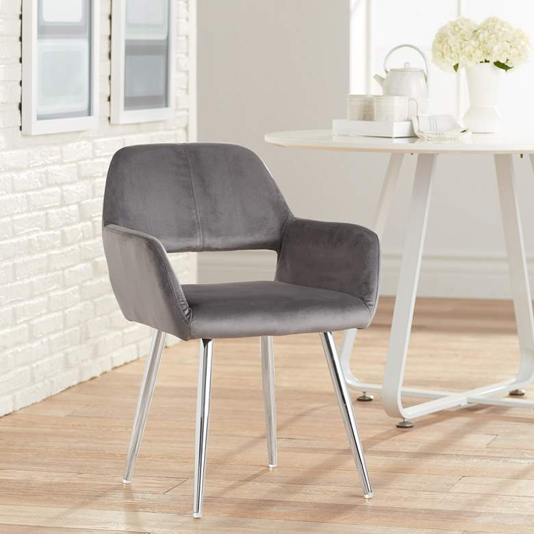Martin Gray Fabric Dining Chair