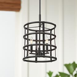"Markham 13"" Wide Oil-Rubbed Bronze 3-Light Foyer Pendant"