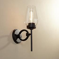 "Possini Euro Design Declan 15"" High Bronze Wall Sconce"