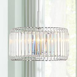 "Possini Euro Deacon 18"" Wide Crystal 4-Light Pendant"