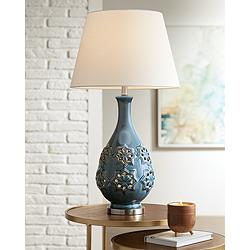 Possini Euro Stacey Ceramic LED Night Light Table Lamp