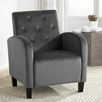 Shore Gray Tufted Accent Chair