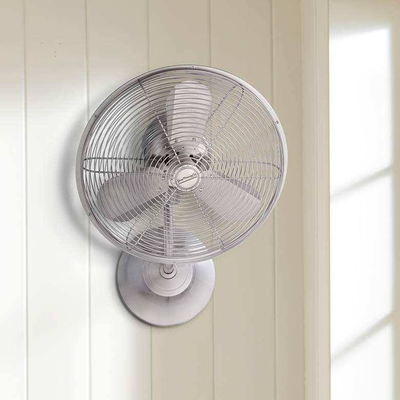 "14"" Craftmade Bellows I Polished Nickel Damp Wall Fan"