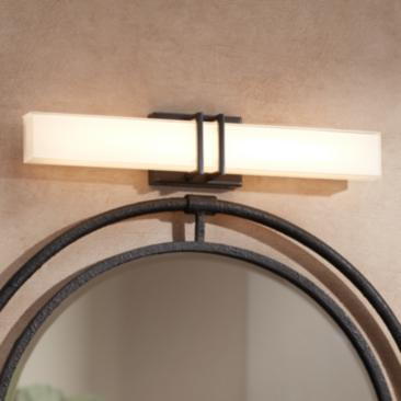 "Possini Euro Exeter 24""W Bronze LED Bathroom Vanity Light"