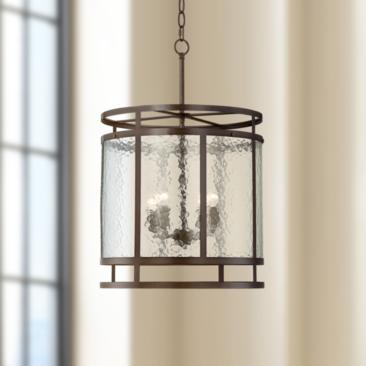 "Edinger 17"" Wide Oil-Rubbed Bronze Metal Pendant"