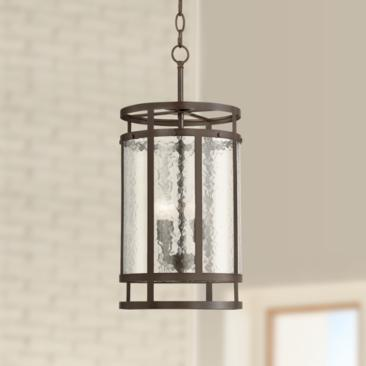 "Edinger 11 1/4"" Wide Oil-Rubbed Bronze Metal Entry Pendant"