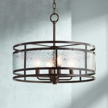 "Edinger 20"" Wide Oil-Rubbed Bronze Metal Pendant"