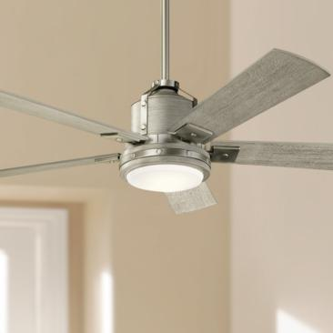 "52"" Kichler Colerne Brushed Nickel LED Ceiling Fan"