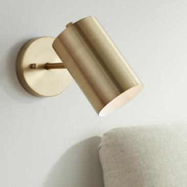 Carla Polished Brass Down-Light Hardwire Wall Lamp