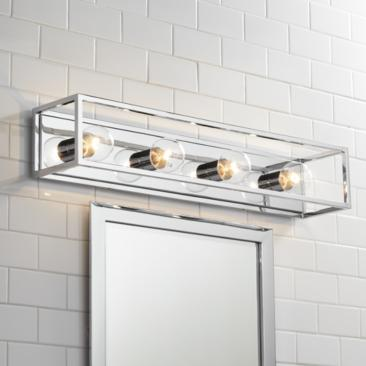 "Possini Euro Alfie 32 1/2"" Wide Chrome Bath Light"