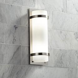 "Minka Lavery Contemporary 17""H Brushed Nickel Wall Sconce"