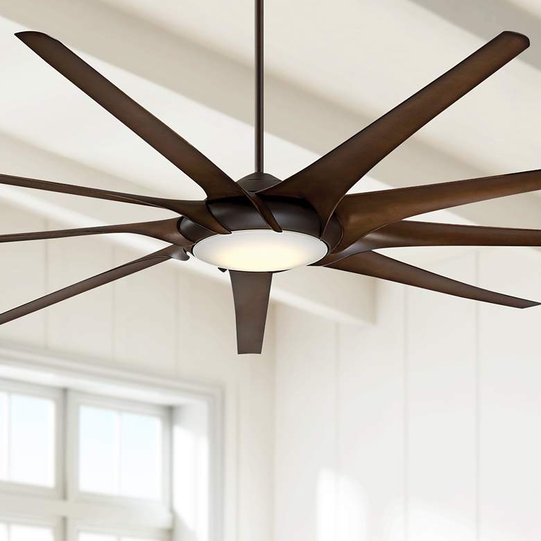 "99"" Minka Aire Ninety Nine Oil-Rubbed Bronze LED Ceiling Fan"