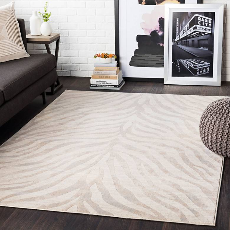 City CR613 Light Gray Area Rug