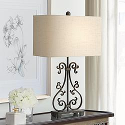 Beale Iron Scroll Table Lamp