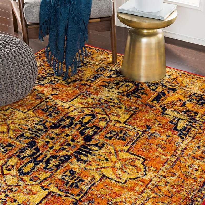 Surya Monte Carlo CR610 Bright Orange Area Rug
