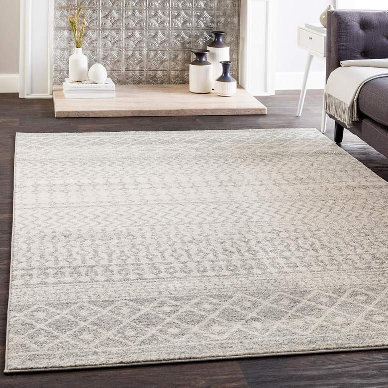 Elaziz Cr610 Light Gray Area Rug