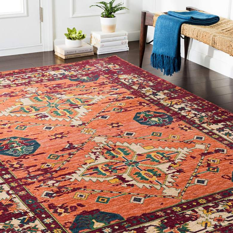 Trailblazer CR610 Dark Red Area Rug