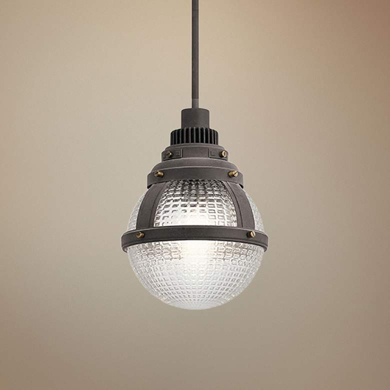 "Kichler Gavin 10"" Wide Weathered Zinc Mini Pendant"