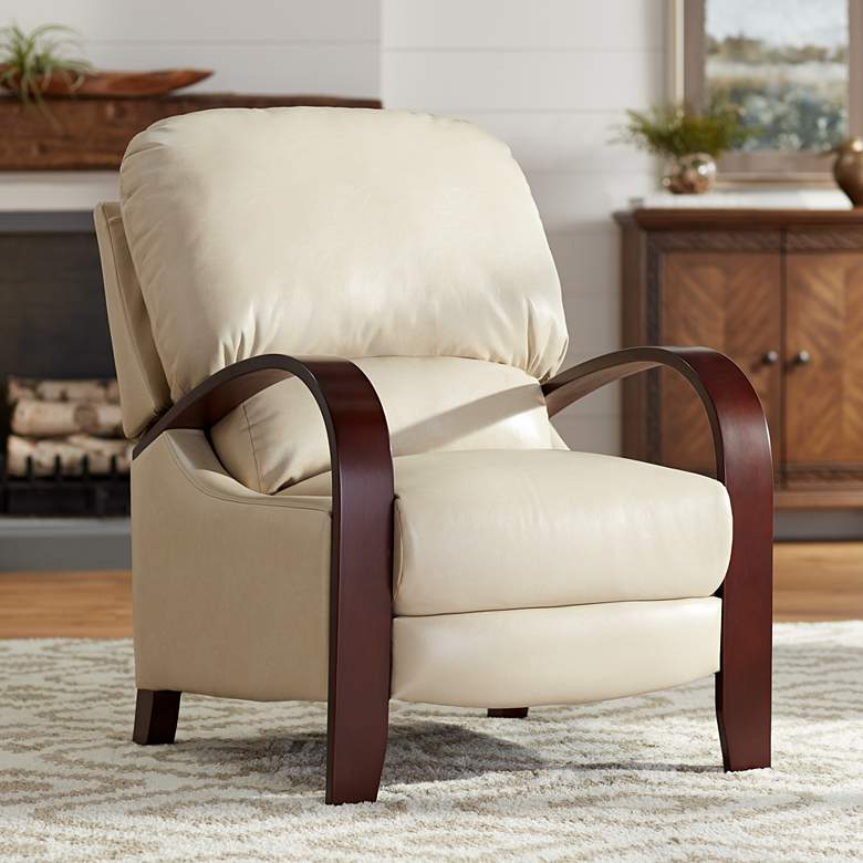 Cooper Parchment Faux Leather 3-Way Recliner Chair