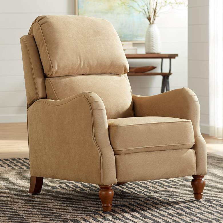 Farrah Saddle Tan 3-Way Recliner Chair