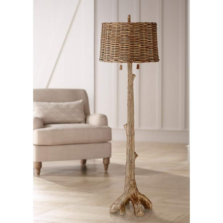 Woodley Rustic Tree Floor Lamp