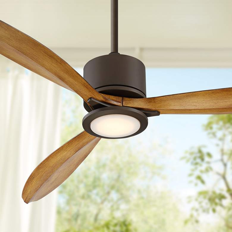 "56"" Casa Vieja Rally Bronze Damp LED Ceiling"
