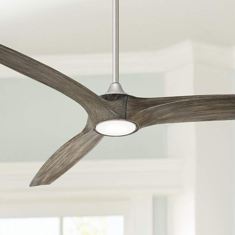 "60"" Casa Vieja Padera Brushed Nickel LED Ceiling"