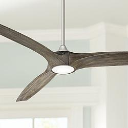 "60"" Casa Vieja Padera Brushed Nickel LED Ceiling Fan"