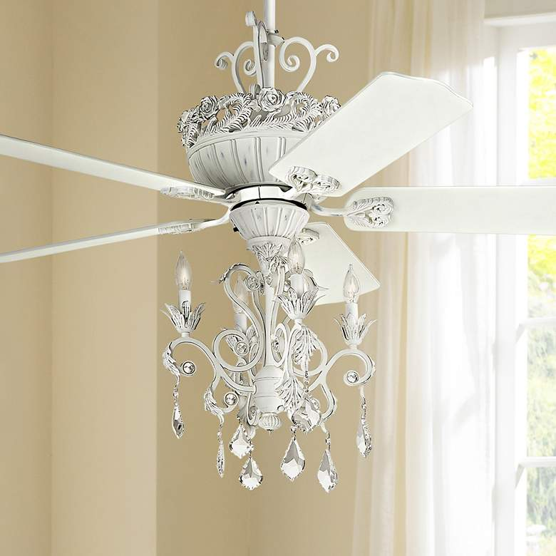 "52"" Casa Chic™ Rubbed White Chandelier LED Ceiling"
