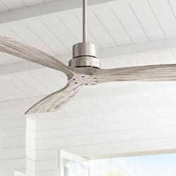 "52"" Casa Delta-Wing™ Brushed Nickel and Gray Ceiling Fan"