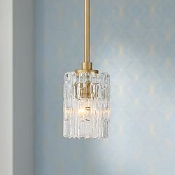 "Possini Euro Icelight 5 1/2"" Wide Gold Mini Pendant Light"