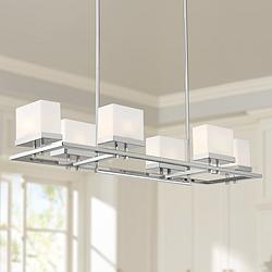 "Gareth 38 1/2"" Wide Chrome Kitchen Island Light Chandelier"