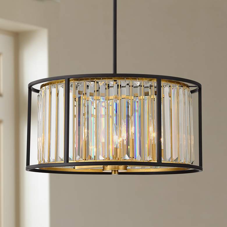 "Brenna 20"" Wide Crystal Drum Pendant Light"