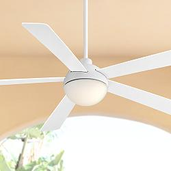 "60"" Casa Odessa™ White Damp Rated LED Ceiling Fan"