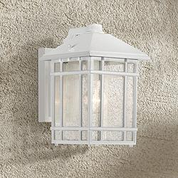 "Jardin du Jour 11""H White Dusk to Dawn Outdoor Wall Light"