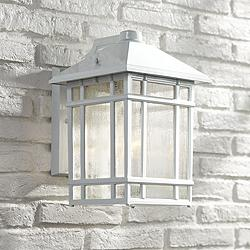 "J du J Sierra Craftsman 15"" High White Outdoor Wall Light"