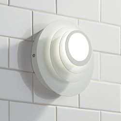 "Possini Euro Bedias 7 1/2""H White Multi-Tier LED Wall Sconce"