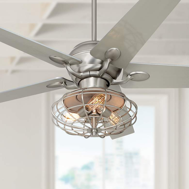 "52"" Casa Optima™ Brushed Nickel LED Ceiling"