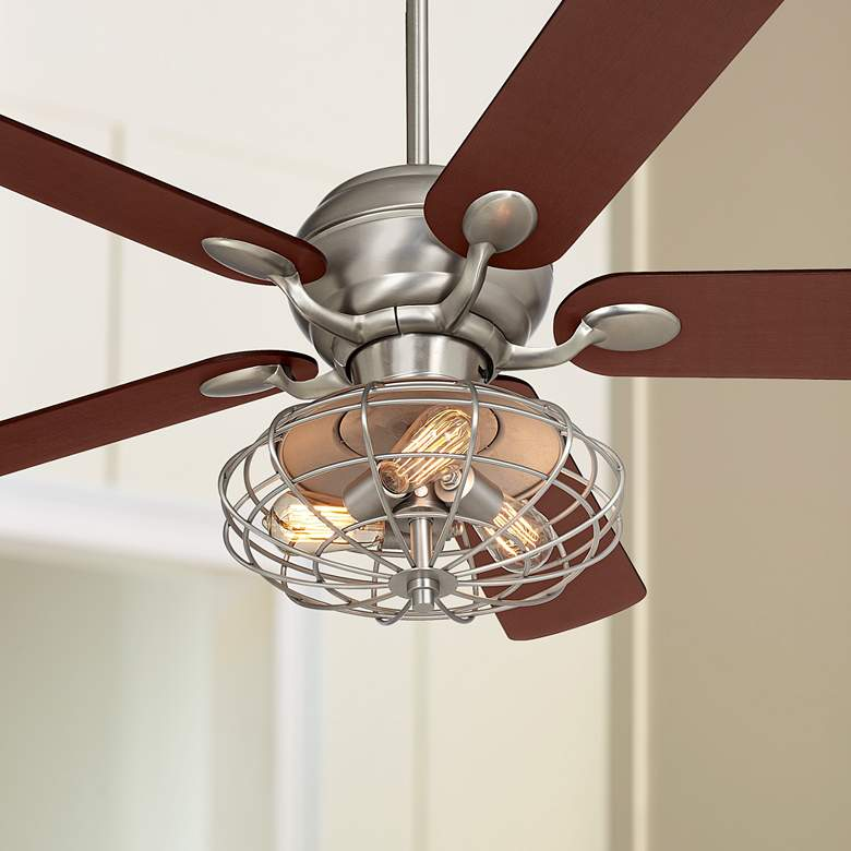 "52"" Casa Optima™ Brushed Nickel LED Ceiling Fan"