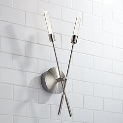 "Possini Euro Arrow 21 1/2""H Brushed Nickel LED Wall Sconce"