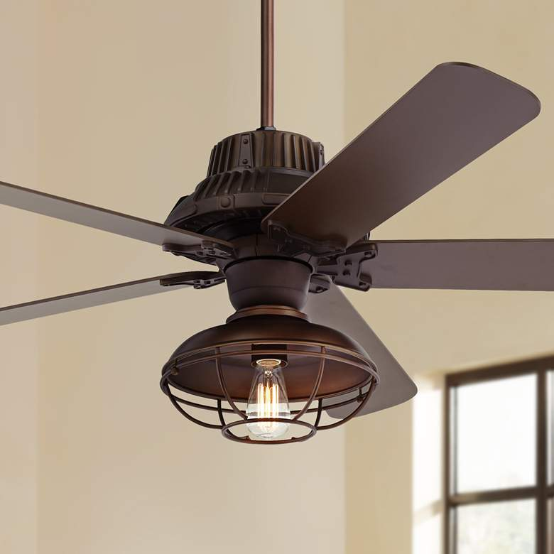 "60"" Industrial Forge LED Outdoor Ceiling Fan"