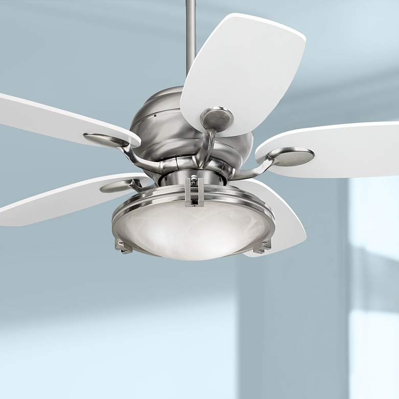 "43"" Casa Optima™ Brushed Steel Ceiling Fan with"