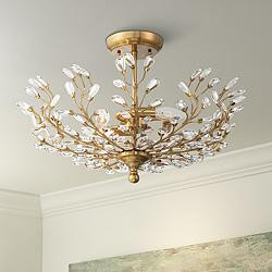 "Brielle 18 1/2"" Wide Brass 4-Light Ceiling Light"