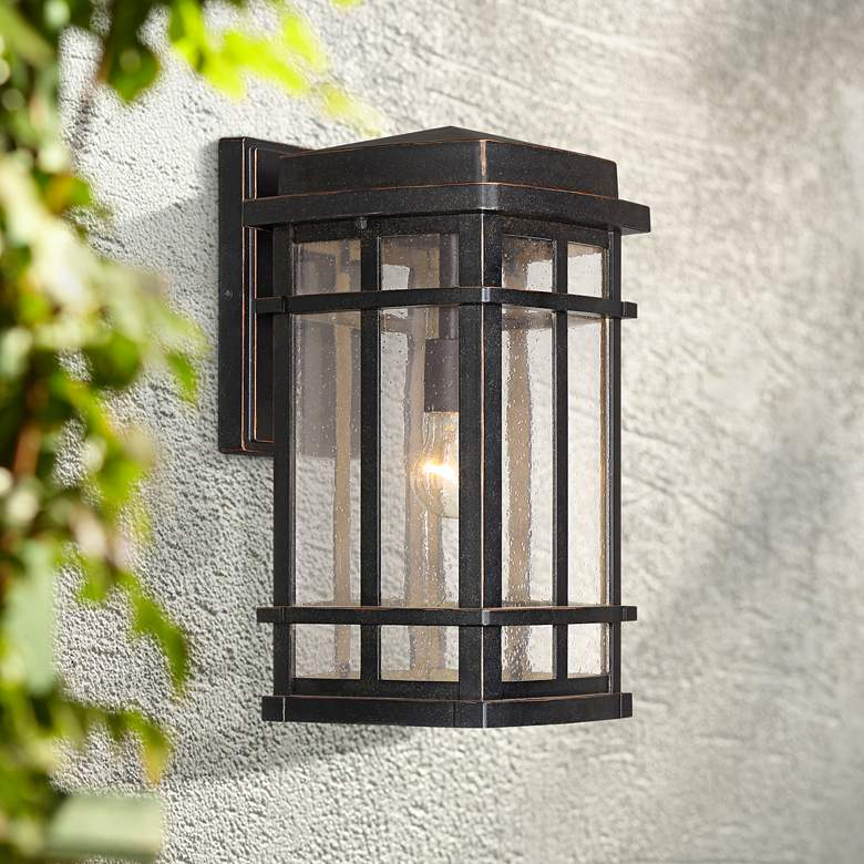 "Neri 16"" High Mission Oil-Rubbed Bronze Outdoor Wall Light"