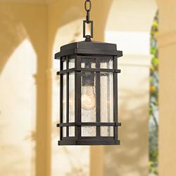 "Neri 14 1/2"" High Oil-Rubbed Bronze Outdoor Hanging Light"